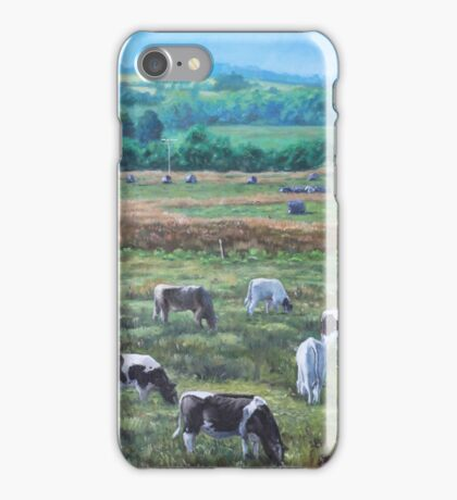 Cows In A Field In The Devon Countryside iPhone Case/Skin
