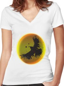 Dark Crow Women's Fitted V-Neck T-Shirt