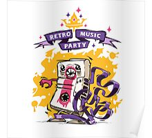 Retro Music Party Poster Poster