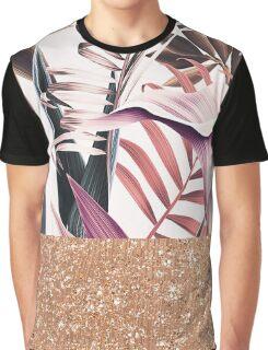Magenta tropical rose gold Graphic T-Shirt