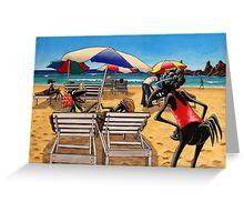 Birds on the Beach Greeting Card