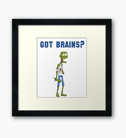 Funny Zombie Framed Print