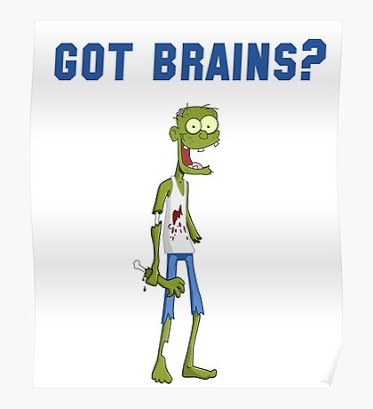 Funny Zombie Poster