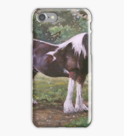 Big horse in field iPhone Case/Skin