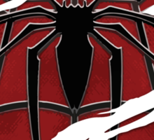 Spider inside red suit ripped torn Sticker