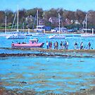 Pink Ferry on the River Hamble by martyee