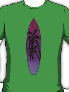 Surfboard Palm Trees (Purple) T-Shirt
