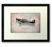 Hawker Hurricane Mk1 R4118 Framed Print