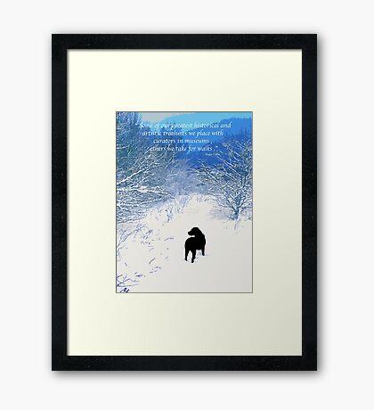 Treasures - Black Labrador  Framed Print