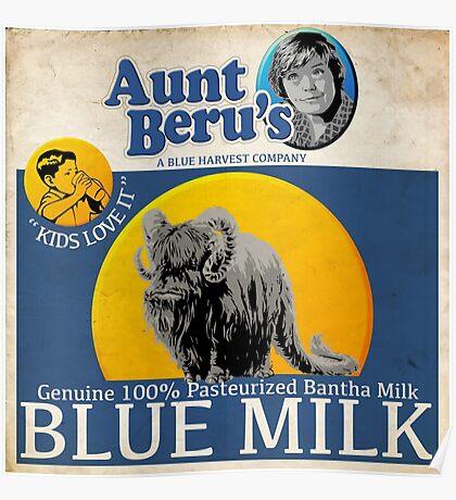 Aunt Beru's Blue Milk : Inspired by Star Wars Poster