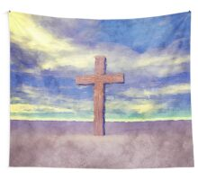 Christian Cross Landscape Wall Tapestry