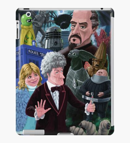 3rd Dr Who And Friends iPad Case/Skin