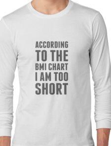 BMI Chart Long Sleeve T-Shirt