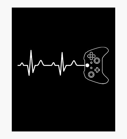 Gamer Heartbeat Photographic Print