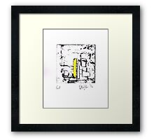 Proof/Test (yellow) 2014 Framed Print