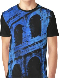 Rome - Colosseum in Blue Graphic T-Shirt