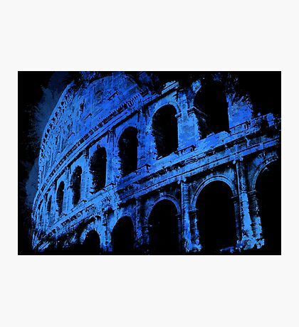 Rome - Colosseum in Blue Photographic Print