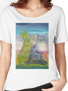 FOUR CATS Women's Relaxed Fit T-Shirt