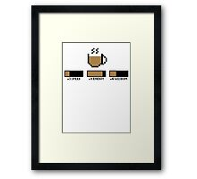 Coffee stats Framed Print