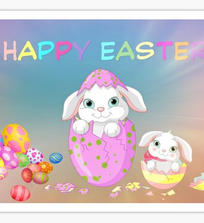 Happy Easter Holidays Sticker