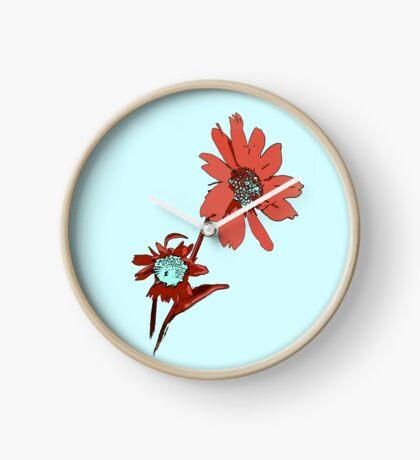 Spring Flower Print Clock