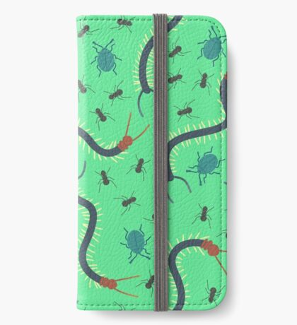 Green Insect Pattern iPhone Wallet/Case/Skin