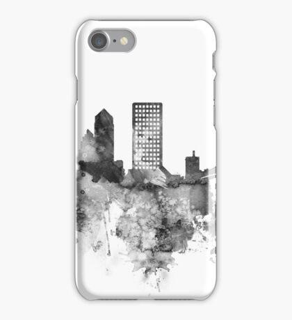 Jacksonville BW watercolor skyline iPhone Case/Skin