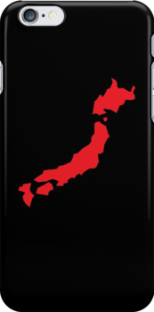 Japan map simple in RED by jazzydevil