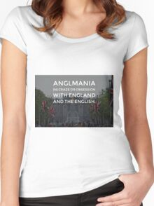 Anglomania definition on a photograph The Mall in London UK Women's Fitted Scoop T-Shirt