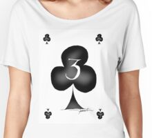 3 of Clubs - tony fernandes Women's Relaxed Fit T-Shirt