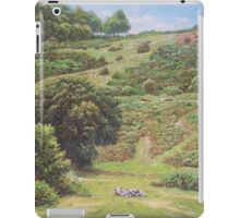 New Forest Hill with cows and horses iPad Case/Skin