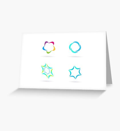 Hand-drawn Logo ICONs on white Greeting Card