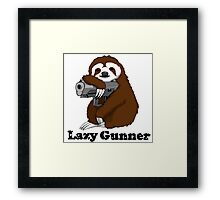 Lazy Gunner Framed Print