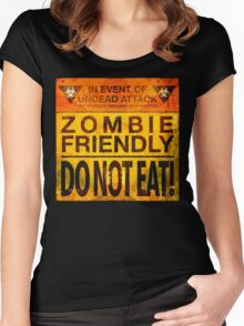 Zombie Friendly - Do Not Eat Women's Fitted Scoop T-Shirt