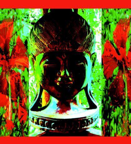 SMILING. MEDITATING. WATCHING, BUDDHA IS. Sticker