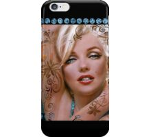 MM mucha 2 turquoise iPhone Case/Skin