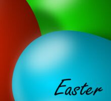 Three colourful Easter eggs Sticker