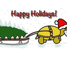 A Tortoise Christmas - Happy Holidays (Tree Design) by Iceyuk