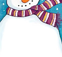A Friendly Carrot-Nosed Snowman by Lisa Marie Robinson