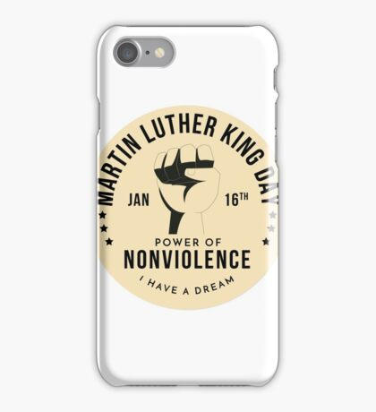 Firot  Badge for Martin Luther King Day iPhone Case/Skin