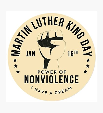 Firot  Badge for Martin Luther King Day Photographic Print