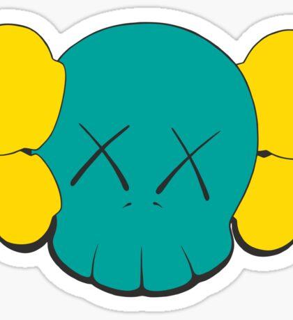 KAWS Head Sticker