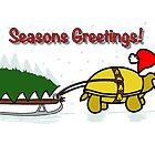 A Tortoise Christmas - Seaons Greetings (Tree Design) by Iceyuk