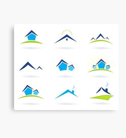 Hand-drawn cute Icons on white Canvas Print