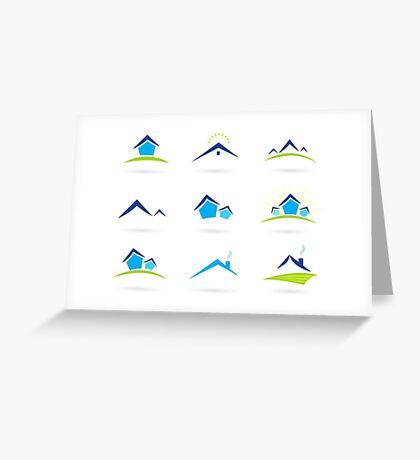 Hand-drawn cute Icons on white Greeting Card