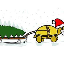 A Tortoise Christmas - BLANK (Tree Design) by Iceyuk