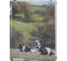 Cows sitting by hill relaxing iPad Case/Skin