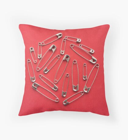 Safety-pins Throw Pillow