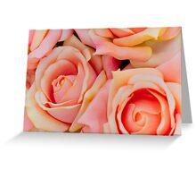 roses art of cloth Greeting Card