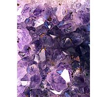 Amethyst crystals Photographic Print